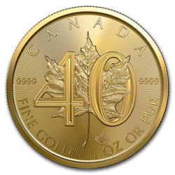 Canada 1 oz gold 40th Anniversary Maple Leaf 2019