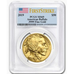 GOLD 1 oz GOLD US BUFFALO 2019 - PCGS MS-69 FS