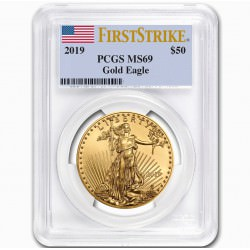 1 oz gold EAGLE 2019 PCGS MS-69 First Strike