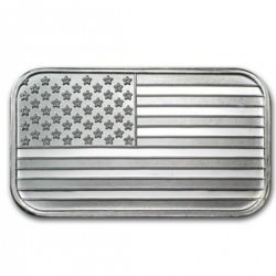 1 troy oz silver BAR US FLAG