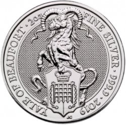 2 oz silver QUEEN'S BEAST 2019 The FALCON of the Plantagenets