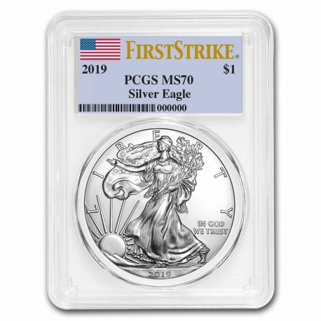 1 oz silver US EAGLE 2019 First Strike PCGS MS-70 First Strike