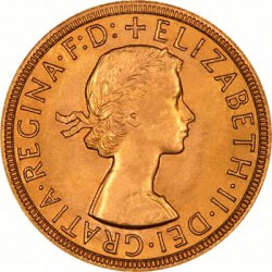 FULL GOLD SOVEREIGN 1964