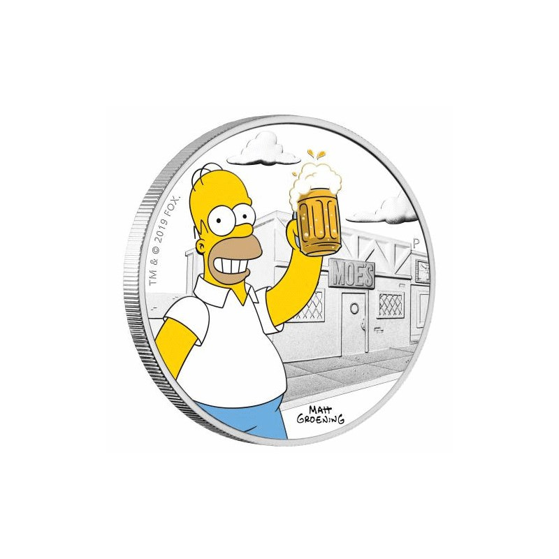 The Simpsons Homer 2019 1oz Silver Proof Coin