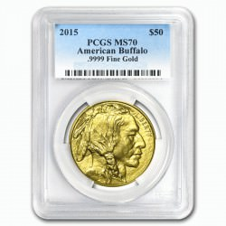 GOLD 1 oz GOLD US BUFFALO 2015 - PCGS MS-69