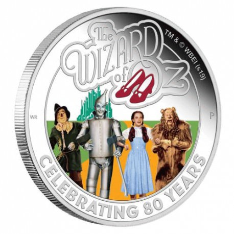 The Wizard of Oz 80th Anniversary 2019 1oz Silver Proof Coin