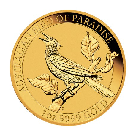 1 oz GOLD Bird of Paradise Victoria's Riflebird 2018