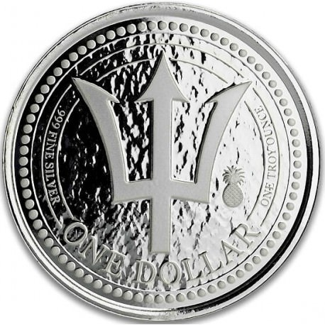 1 oz silver Barbados TRIDENT 2018 Pineapple Privy $1