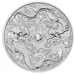 Perth Mint 1 oz silver DOUBLE DRAGON 2019
