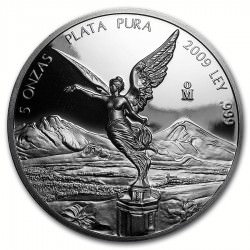 5 oz silver LIBERTAD 2009 PROOF