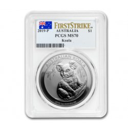 1 oz silver KOALA 2019 PCGS MS-70 First Strike