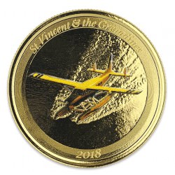 1 oz gold ST. LUCIA 2018 Eastern Caribbean N°8 / 8 Colored Proof Box + Coa