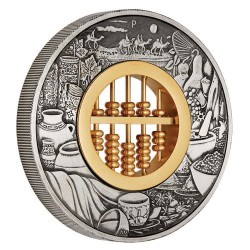 *** Abacus 2019 2oz Silver Antiqued Coin ***