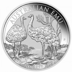 Perth Mint 1 oz silver EMU 2018