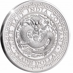 1 oz silver CHINESE TRADE DOLLAR St HELENA 2019