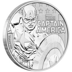 Perth Mint 1 oz silver 2019 MARVEL CAPTAIN AMERICA $1