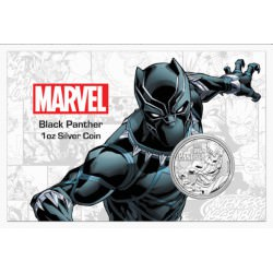 Perth Mint 1 oz silver 2018 MARVEL BLACK PANTER $1 in card