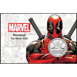 Perth Mint 1 oz silver 2018 MARVEL DEADPOOL $1 in card