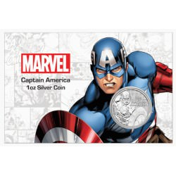 Perth Mint 1 oz silver 2019 MARVEL CAPTAIN AMERICA $1 in card