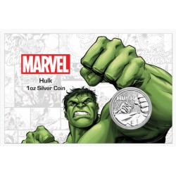 Perth Mint 1 oz silver 2019 MARVEL HULK $1 in card