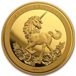 CHINA 1 oz GOLD UNICORN 25th Anniversary 2019