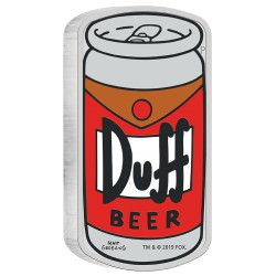 The Simpsons DUFF BEER 2019 1oz Silver Proof Coin