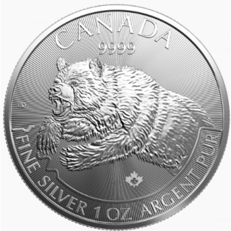 1 oz silver GRIZZLY 2019 Predators