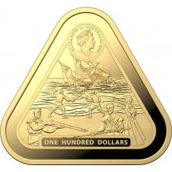 RAM 1 oz GOLD TRIANGULAR coin BATAVIA 2019